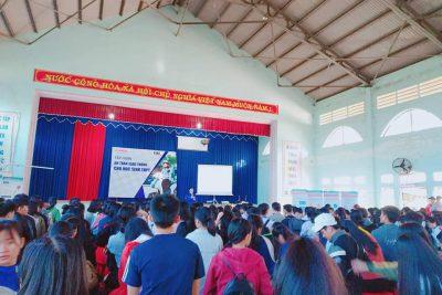 Trường THPT Phan Chu Trinh tập huấn kỹ năng ATGT cho học sinh khối 12