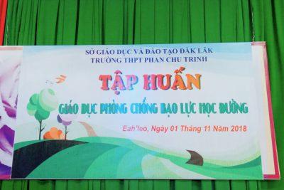 Trường THPT Phan Chu Trinh Tổ chức tập huấn Bạo lực học đường cho giáo viên