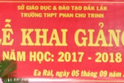 Lễ khai giảng năm học 2017 – 2018 Trường THPT Phan Chu Trinh