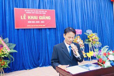 TRƯỜNG THPT PHAN CHU TRINH KHAI GIẢNG NĂM HỌC 2020-2021