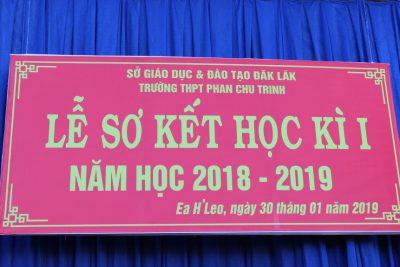 Trường THPT Phan Chu Trinh tổ chức lễ sơ kết học kỳ I năm học 2018–2019