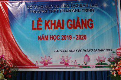 TRƯỜNG THPT PHAN CHU TRINH TỔ CHỨC LỄ KHAI GIẢNG NĂM HỌC 2019 – 2020