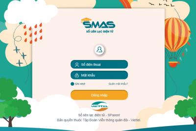 Hướng dẫn lấy lại mật khẩu để xem điểm trên SMSEDU của SMAS